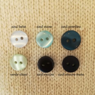 Buttons - blue and green