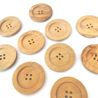 Large wood button