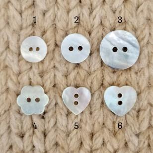 Botões de madrepérola